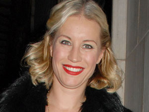 Denise Van Outen leaving the Savoy Theatre after appearing in 'Legally Blonde The Musical'