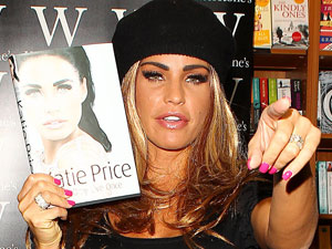 Katie Price signs copies of her new book at Waterstone&#39;s, Boston