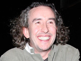 Steve Coogan leaving the London Launch of the new website naag.com