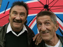 Barry and Paul Chuckle ply their slapstick trade in Van Compare TV ad campaign.