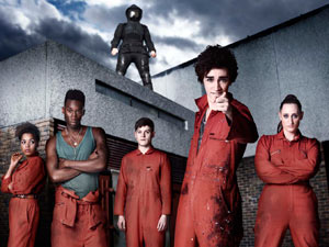 The cast of Misfits season 2