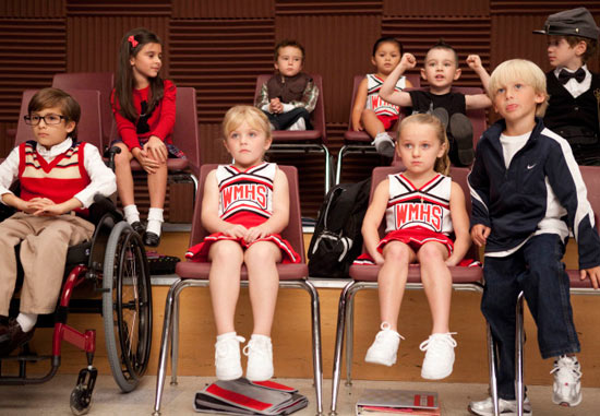 Glee: S02E07 - The club as kids
