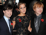 Daniel Radcliffe, Emma Watson and Rupert Grint at the Deathly Hallows premiere