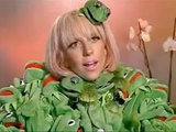 Lady GaGa in her Kermit dress
