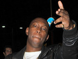 Dizzee Rascal arriving back at his hotel after the 2010 MTV European Music Awards