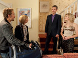 Nick and Leanne are nearly caught in the act by Gail and David