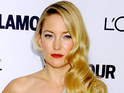 Kate Hudson tells Graham Norton that she is not currently engaged to Matt Bellamy.