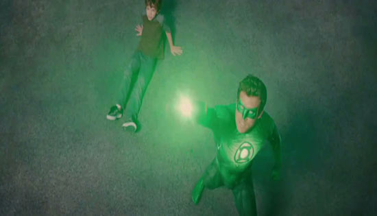 Green Lantern's light!