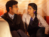 Tamwar and Afia head to the Argee Bhajee where Afia builds a den for them to cuddle under.