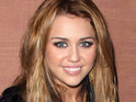 Miley Cyrus helps her brother Trace to design a T-shirt for his fashion line.