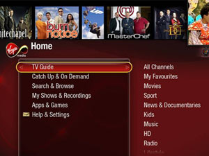 Virgin Media TiVo screenshot