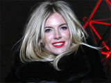 Sienna Miller lights the London Eye red for 'World Aids Day' 2010