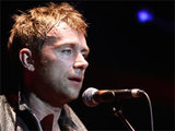 Damon Albarn of The Gorrilaz performing live with the band in Australia
