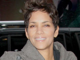 Halle Berry is seen arriving at ABC Studios for 'Good Morning America'