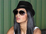 Nicole Scherzinger arriving at Los Angeles International Airport on a flight from London