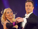 Pamela Stephen and dancing partner James Jordan finish in third place in the Strictly Come Dancing final.