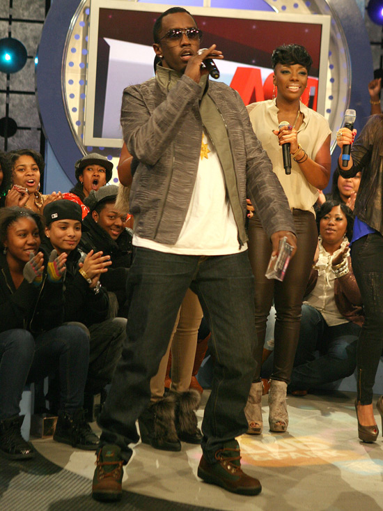 P Diddy aka Sean Combs takes over 106 and Park New York City