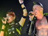 Scissor Sisters performing live in concert at the 02 Arena, London