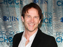 Stephen Moyer, from True Blood, emerged unharmed from a dramatic racing car crash this weekend.