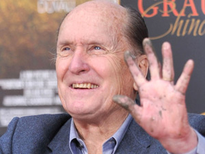 Robert Duvall at his hand and footprint ceremony in Los Angeles
