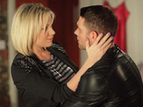 Christian arrives at Roxy's flat to conceive the baby.