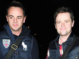 Ant and Dec arrive at their hotel in Manchester