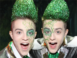 John and Edward Grimes aka Jedward launch the new pantomime Jedward and the Beanstalk in Dublin, Ireland