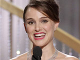 Natalie Portman says her thank yous after scooping the 'Best Actress' gong for 'Black Swan'.