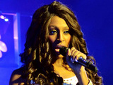 Alexandra Burke performing at the Grand Canal Theatre in Dublin