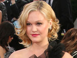 Julia Stiles arriving at the 68th Annual Golden Globe Awards