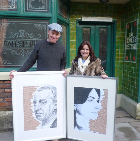 Steve Huison and Debbie rush aka Eddie and Anna Windass