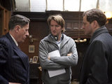 Geoffrey Rush, Tom Hooper and Colin Firth on 'The King's Speech'