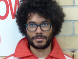 Richard Ayoade on the set of 'Submarine'