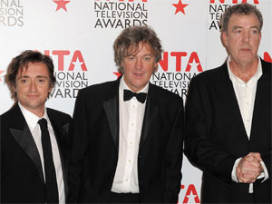 'Top Gear' presenters Richard Hammond, James May and Jeremy Clarkson at the 2011 National Television Awards