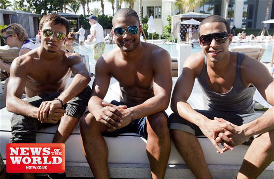 JLS, Shirtless