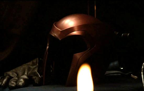 Magneto's helmet.