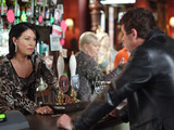 Alfie returns to the Queen Vic with Patrick and Kim in tow.