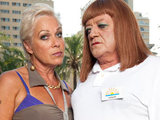 Mary and Lesley in Benidorm