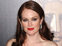 Julianne Moore confesses that she always feels nervous when she sets foot on the red carpet.