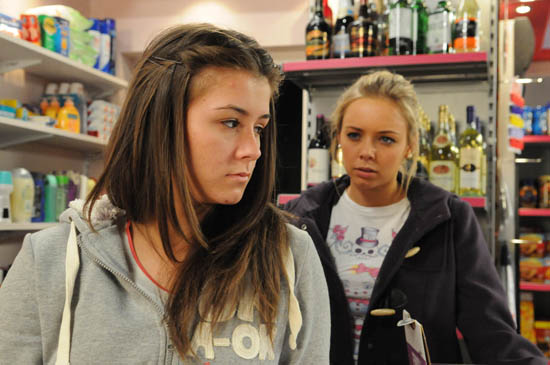 Sophie Webster (Brooke Vincent) and Sian Powers (Sacha Parkinson)