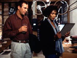 Kevin Costner and Whitney Houston in 'The Bodyguard'