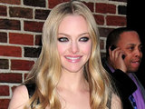 Amanda Seyfried at the Ed Sullivan Theater for 'The Late Show With David Letterman'