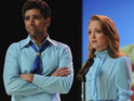 Glee star Jayma Mays admits that she would love to work with John Stamos again in the future.