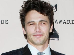 James Franco with the Independent Spirit Award he picked up for 'Best Male Lead' at Saturday's ceremony in Los Angeles
