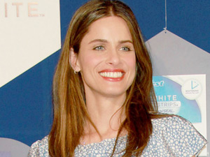 Amanda Peet at the launch of the new Crest 3D White at EZ Studio, New York