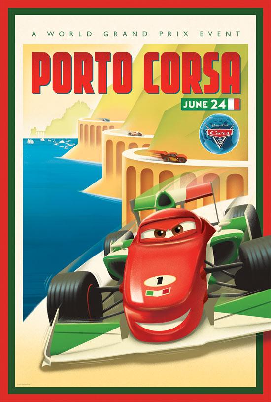 pixar cars 2 posters. #39;Cars 2#39; vintage poster