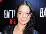 Michelle Rodriguez at the red carpet screening of 'Battle: Los Angeles'