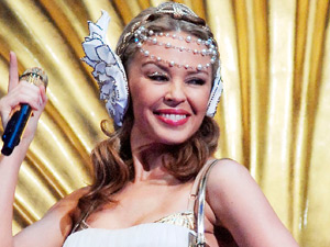Kylie Minogue performing live at Midolanum Forum in Milan