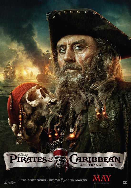 'Pirates Of The Caribbean: On Stranger Tides' Blackbeard