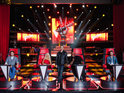 Christina Aguilera, Blake Shelton, Cee Lo Green and Adam Levine star in 'Vocal Kombat'.